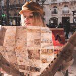 paryska bagietka w papierowej torbie
